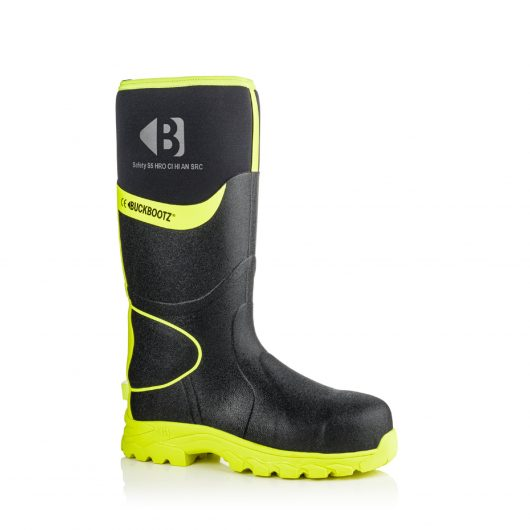 Image shows a side view of Buckler BBZ8000 Black/Yellow with hi-viz detailing