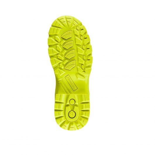 Image shows slip resistant sole of Buckler BBZ8000 Black/Yellow