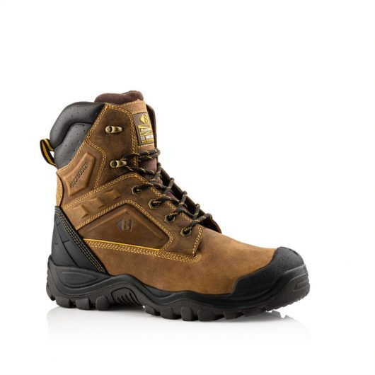 This image shows a side profile of the Buckler BSH011BR lace up boot