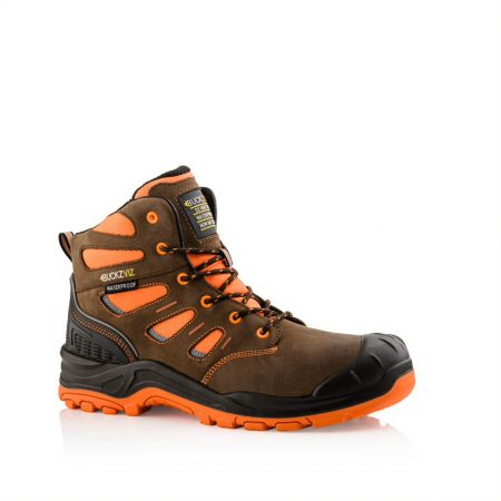 This image shows a side profile of the Buckler BVIZ2 Orange/Brown lace boot