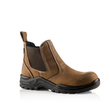 This image shows the inside view of the Buckler Dealerz safety boot with elasticated sides
