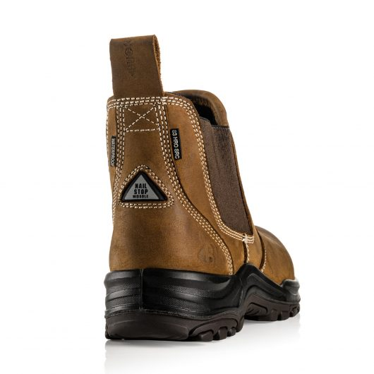 This image shows the back of the Buckler Dealerz safety boot