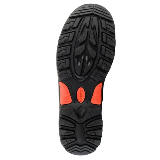 This image shows the sole of the Buckler Dealerz safety boot