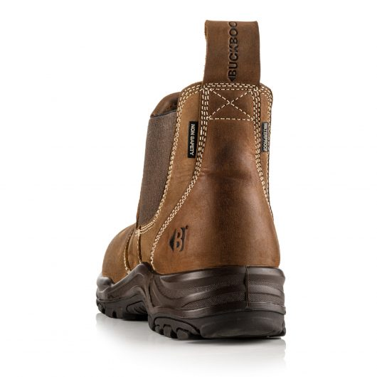 This image shows the back of the Buckler Dealerz non-safety boot