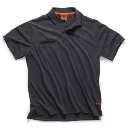 This image shows the Scruffs Worker Polo with chest pocket and discreet Scruffs branding