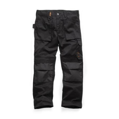 This image shows Scruffs black worker trouser with multiple use pockets