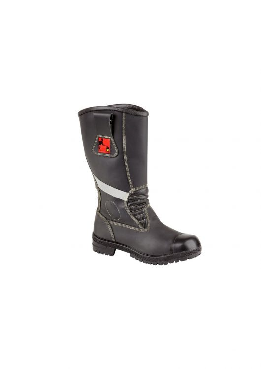 This image shows Tuffking 3105 Fire Safety boot with red and white detailing