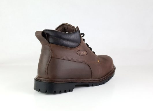 This image shows a side view of the Samson Crewe Safety Boot with NITRK rubber sole