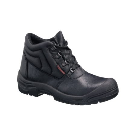 This image shows the Tuffking Delta+ safety boot with 4-D rings, scuff guard, kick plate and padded collar