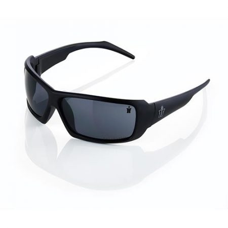 This image shows Scruffs Eagle black Safety specs with smoke lenses