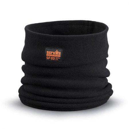 This image shows Scruffs fleece neck warmer with orange scruffs branding