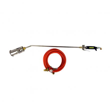 Brenner Premium Torch Kit 60mm Burner Head 600mm Neck with 5m Hose G929T