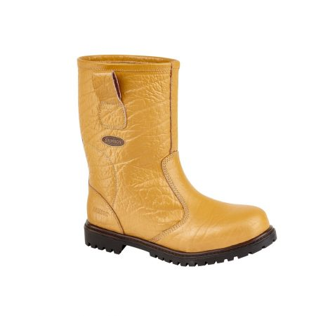 This image shows the Ludlow safety rigger boot in tan