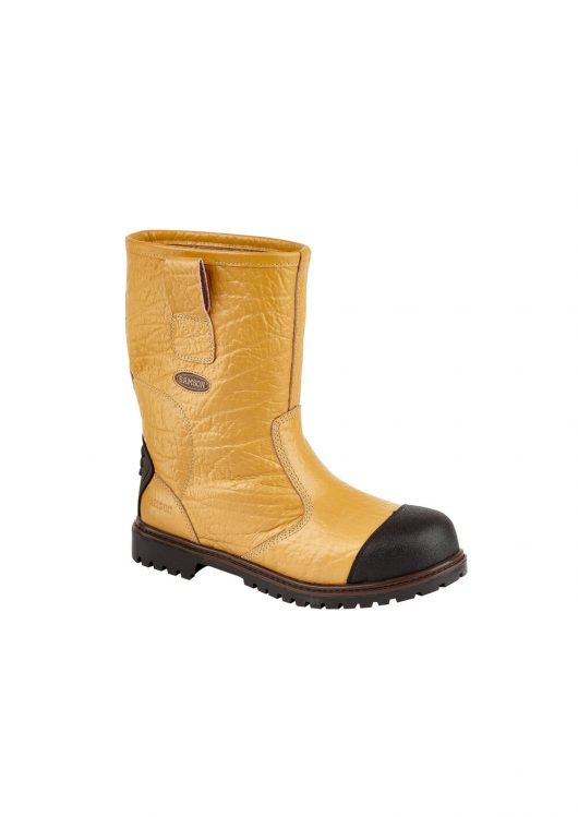 This image shows the Ludlow+ safety rigger boot in tan