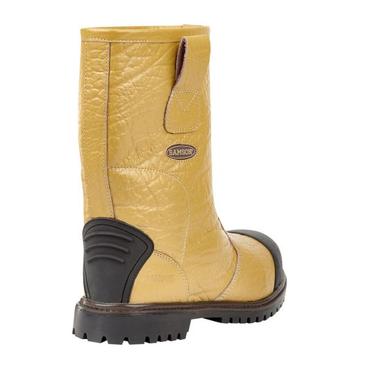 This image shows the back of Ludlow+ Safety Rigger Boot with rear kick plate
