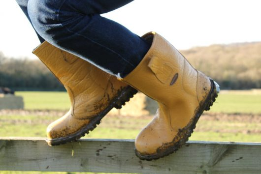 This image shows Ludlow rigger boot on site