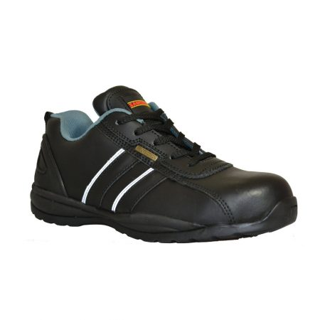This image shows the SamsonXL Pace Safety Trainer with reflective strips and blue inside lining