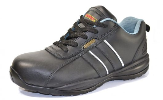 This image shows the SamsonXL Pace safety trainer, with padded lining, tongue and rear pull tab