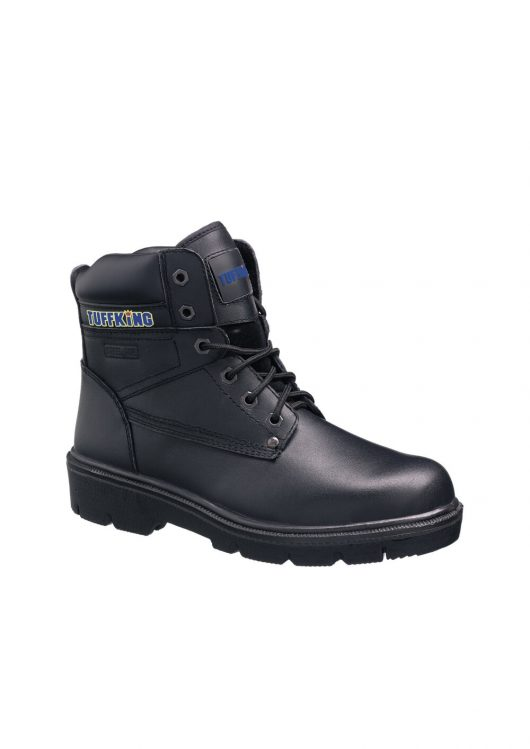 This image shows the Tuffking Regal Safety boot with padded collar and tongue