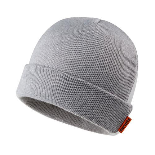 This image shows Scruffs thinsulate beanie with Scurffs orange branding of the collar