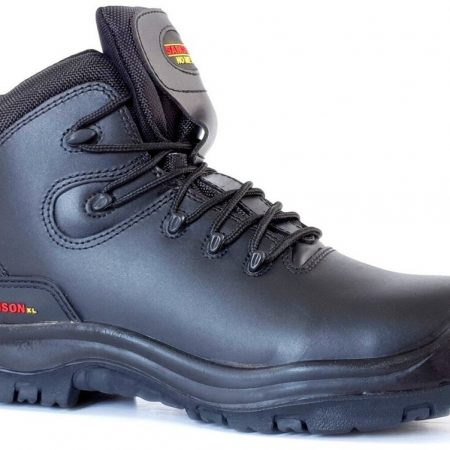 This image shows the SamsonXL Vertex Safety boot with scuff guard and PU/Rubber antislip sole