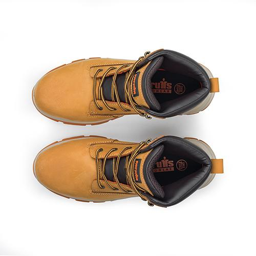 This image shows Scruffs Ridge safety boot with two-tone laces