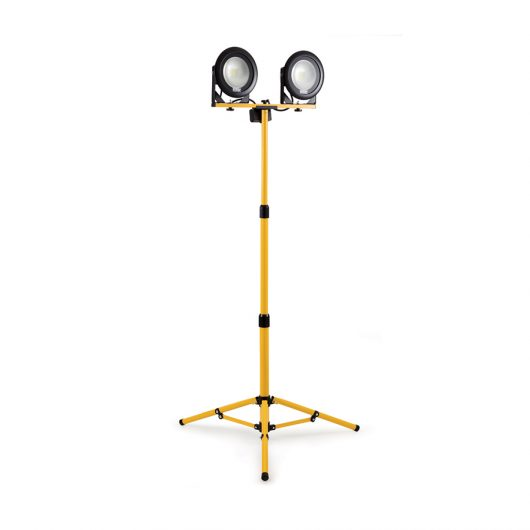 This image shows Defender DF1200 20w LED twin head telescopic light