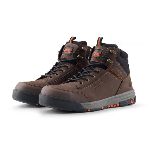 Scruffs Switchback 3 Brown with black detail on ankle and tongue